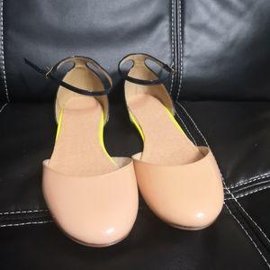 J Crew Neon Colorblock Patent Leather Flats